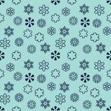 Abstrakcjonistycznego śnieżnego płatka dekoracyjny bezszwowy wzór Zdjęcia Stock