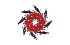 Abstrakcjonistycznego agresywnego fractal czerwona czarna postać Obraz Stock