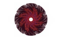 Abstrakcjonistycznego agresywnego fractal czerwona czarna postać Zdjęcia Stock