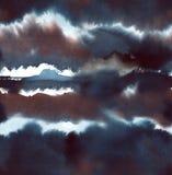 Abstrakcjonistycznego atramentu bezszwowy wzór Zdjęcia Stock