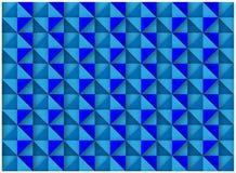Abstrakcjonistycznego Błękitnego Bezszwowego sześcianu luksusu wzoru Dekoracyjny projekt ilustracja wektor
