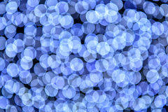 Abstrakcjonistycznego błękitnego bokeh defocused tło Fotografia Royalty Free