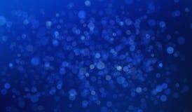 Abstrakcjonistycznego błękitnego bokeh rozmyty tło dla technologii pojęcia, 3d royalty ilustracja