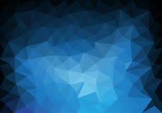 Abstrakcjonistycznego błękitnego brzmienie koloru wieloboka tła luksusowy wektor Zdjęcie Royalty Free