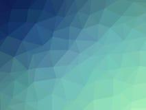 Abstrakcjonistycznego błękitnego cyraneczka gradientowego wieloboka kształtny tło Fotografia Stock
