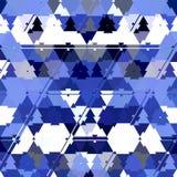 Abstrakcjonistycznego błękitnego koloru Poligonalny geometryczny tło royalty ilustracja