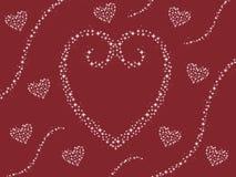 Abstrakcjonistycznego błyskotania kierowy projekt z zawijasów valentines dnia kartą wałkoni się tło ilustrację ilustracji