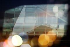 Abstrakcjonistycznego biznesowego nowożytnego miasta architektury miastowy futurystyczny tło Nieruchomości pojęcie, ruch plama, o zdjęcie royalty free