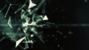 Abstrakcjonistycznego blockchain geometrical tło z chodzeniem wykłada i kropki loopingu cg animacja zdjęcie wideo