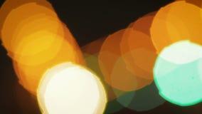 Abstrakcjonistycznego bokeh defocused światła, świąteczny tło zbiory wideo