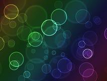abstrakcjonistycznego bokeh jaskrawy okręgi kolorowi Zdjęcia Royalty Free