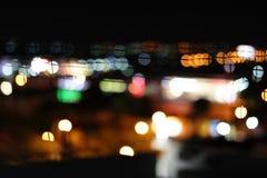 Abstrakcjonistycznego bokeh kolorowy światło w ciemnym tle Obrazy Stock