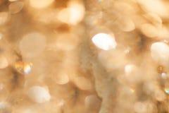 Abstrakcjonistycznego bokeh tła złota tekstura obraz royalty free