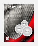 Abstrakcjonistycznego broszurki ulotki projekta wektorowy szablon w A4 rozmiarze Obraz Royalty Free