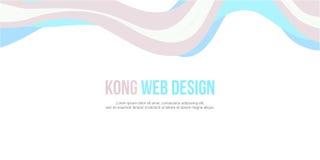 Abstrakcjonistycznego chodnikowiec strony internetowej sztandaru nowożytny styl Zdjęcia Royalty Free