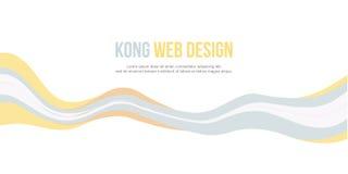 Abstrakcjonistycznego chodnikowiec strony internetowej sztandaru nowożytny styl Zdjęcia Stock