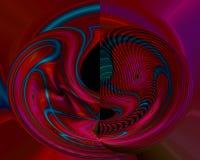 Abstrakcjonistycznego cyfrowego fractal stylu światła graficzni kreatywnie, odpłacają się artystyczny, elegancja, dynamiczna royalty ilustracja