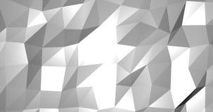 Abstrakcjonistycznego cyfrowego geometrycznego kształta biały tło, nowożytny royalty ilustracja