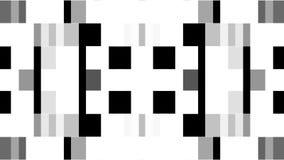 Abstrakcjonistycznego czarnego białego piksla bloku tła ilości poruszającego Nowego ogólnoludzkiego ruchu dynamiczny animowany re royalty ilustracja