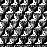 Abstrakcjonistycznego czarny i biały trójboka geometryczny wzór w stylu 80's ilustracja wektor