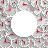 Abstrakcjonistycznego czasu mockup plakatowy tło, 3D analogowy zegar z ramą Fotografia Royalty Free