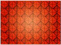 Abstrakcjonistycznego Czerwonego Bezszwowego sześcianu luksusu wzoru Dekoracyjny projekt ilustracja wektor