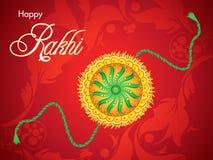 Abstrakcjonistycznego czerwonego raksha bandhan tło Fotografia Stock