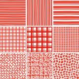 Abstrakcjonistycznego doodle bezszwowi wzory ustawiający Obrazy Stock