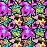 Abstrakcjonistycznego dziewczyny t-shirtl grunge bezszwowy szorstki wzór, nowożytnego projekta szablon royalty ilustracja