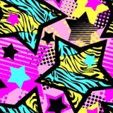 Abstrakcjonistycznego dziewczyny t-shirtl grunge bezszwowy szorstki wzór, nowożytnego projekta szablon ilustracji