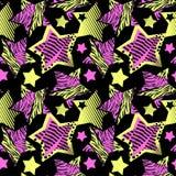 Abstrakcjonistycznego dziewczyny t-shirtl grunge bezszwowy szorstki wzór, nowożytny des ilustracja wektor