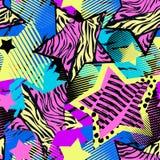 Abstrakcjonistycznego dziewczyny t-shirtl grunge bezszwowy szorstki wzór, nowożytny des ilustracji