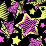 Abstrakcjonistycznego dziewczyny t-shirtl grunge bezszwowy szorstki wzór, nowożytny des royalty ilustracja