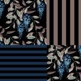 Abstrakcjonistycznego elegancja patchworku bezszwowy wzór ilustracja wektor