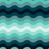 Abstrakcjonistycznego falistego oceanu bezszwowy deseniowy tło ilustracji