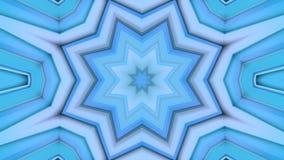 Abstrakcjonistycznego falowania błękitna 3D siatka, poligonalna siatka tętniący geometryczni przedmioty lub Use jako abstrakcjoni zdjęcie wideo