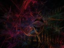 Abstrakcjonistycznego fractal cyfrowy futurystyczny projekt odpłaca się tekstury pojęcia chaosu styl magiczna lekkiej energii twó ilustracji