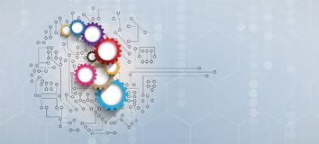 Abstrakcjonistycznego futurystycznego obwodu interneta technologii deski komputerowy b ilustracja wektor