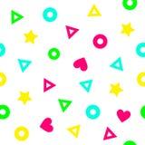 Abstrakcjonistycznego geometrical koloru bezszwowy deseniowy tło Fotografia Royalty Free