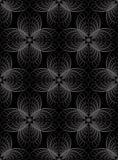 Abstrakcjonistycznego geometrycznego halftone bezszwowi deseniowi koncentryczni okręgi royalty ilustracja