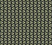 Abstrakcjonistycznego geometrycznego trójboka wzoru wektorowy kolor żółty na czerni Obraz Stock