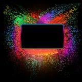 Abstrakcjonistycznego grunge kolorowy tło. Zdjęcia Royalty Free
