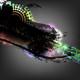 Abstrakcjonistycznego grunge kolorowy tło. Zdjęcie Stock
