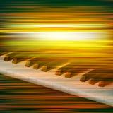 Abstrakcjonistycznego grunge muzyczny tło z pianinem Zdjęcie Stock