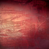 abstrakcjonistycznego grunge organicznie czerwona technologia czerwona Obraz Royalty Free