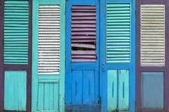 Abstrakcjonistycznego grunge starego koloru tekstury drewniany drzwiowy tło Obraz Royalty Free
