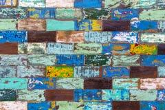 Abstrakcjonistycznego grunge starego koloru tekstury drewniany tło Obraz Royalty Free
