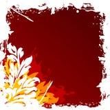 abstrakcjonistycznego grunge tła ilustracji dekoracyjny kwiecisty wektora Zdjęcia Royalty Free