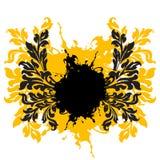 abstrakcjonistycznego grunge tła ilustracji dekoracyjny kwiecisty wektora Obrazy Royalty Free