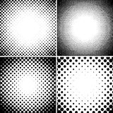 Abstrakcjonistycznego halftone kropkowani tła ustawiający Zdjęcie Royalty Free